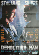 Demolition Man Stallone German Video Promo Poster Wesley Snipes, Sandra Bullock