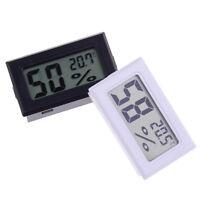Tamaño pequeño digital lcd termómetro higrómetro humedad medidor medición