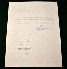 SMOKING JOE FRAZIER AUTOGRAPH - 1976 SIGNED AND NOTARIZED WITH RAISED SEAL