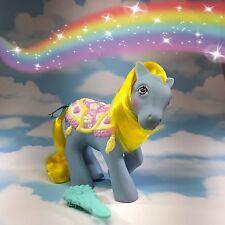 G1 VINTAGE My Little Pony MERRY GO ROUND PONY Brillante Blossoms con Spazzola ORIG