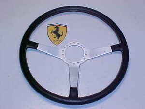 Ferrari 365 Momo Leather Steering Wheel_20340_Daytona_GTS4_GTB4_GENUINE_Vintage