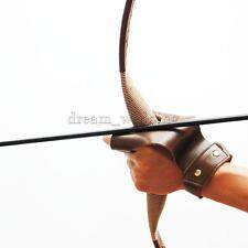 Leder Bogenschiesshandschuh Bogensport Handschuh Fingerschutz Archery Braun