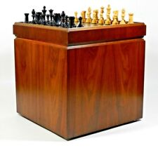 Vintage Mid Century Modern Ottoman Chess Board Table Album Holder Lane