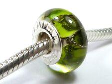 GENUINE SILVER CHAMILIA CHARM 925 SILVER & MURANO GLASS GREEN BEAD
