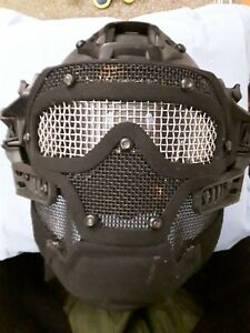 Black airsoft helmet
