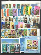 GRENADA 55 Different Stamps & 3 Miniature Sheets All Mint Unhinged MUH