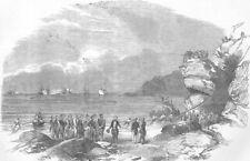 ITALY. Laying Mediterranean telegraph Cable, Spezia, antique print, 1854