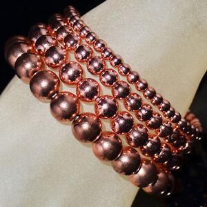 Handmade Healing Natural Gemstone Round Bead Stretch Bracelet 4mm 6mm 8mm 10mm