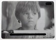 TOPPS Anakin Skywalker STAR WARS BLACK PRINTING PLATE JEDI LEGACY 2013 1/1 RARE