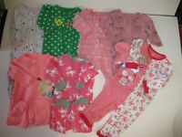 Baby Girl 9 Months Sleepers Lot  Clothes Lot