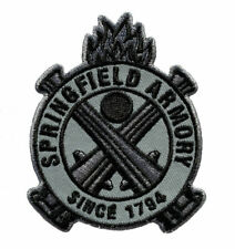 SPRINGFIELD ARMORY FIREARMS VEST PATCH 3 in. CIRCLE SEW ON GUN PATCH