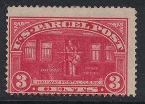 Scott Q3- MH, Dist. gum- 3c Railway Post, Parcel post stamp- 1912-13 BOB stamp