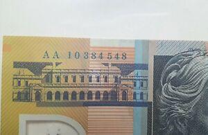 2010 Stevens/Henry AA10 1st prefix $50 Banknote in Archive Sleeve, McD604d/1
