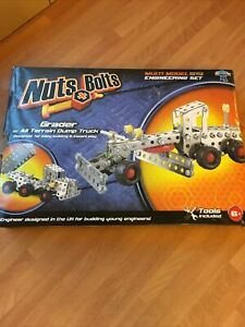 Nuts And Bolts Multi Model Engineering Set - Grader Or Dump Truck - Complete+Box