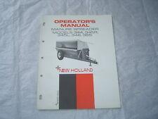 New Holland 344 345 346 365 Manure Spreaders Operators Manual