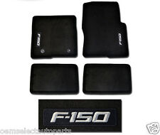 OEM NEW 2012-2014 Ford F-150 SUPER CAB Carpet Floor Mats BLACK Embroidered Logo