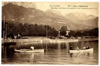 CPA 74 Haute-Savoie Lac d' Annecy Menthon Dents de Lenfont et Tournette animé