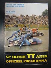 Officieel Programma Dutch TT Assen 1982