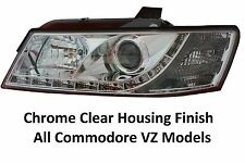 Holden Commodore VZ Series SV6 LED DRL Chrome Clear Headlights Brand New Design
