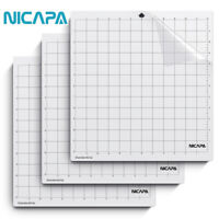 Nicapa Cutting Mats for Silhouette Cameo 1/2/3,Standardgrip Adhesive,12x12,3Pack