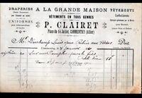 """COMMENTRY (03) DRAPERIE / CONFECTION VETEMENTS """"P. CLAIRET"""" en 1910"""