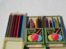 Vintage Mongol Colored Pencils by Eberhard Faber In Original Cases