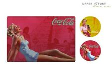 Coca Cola Set of 2 Placemats and 2 Coasters Cork Backing Pin Ups FREE DELIVERY