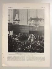 (E023) ENGRAVING – PRINT – ROYALTY – INAUGURATION CEREMONY HOLLAND – NETHERLANDS
