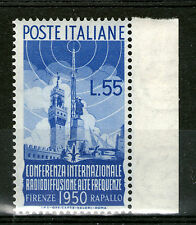 italy 1950 radiodiffusione MNH top value SC# 539 radio set