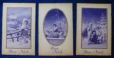 Lot 3 Postcard-Merry Christmas-Kids Years'30-intonse