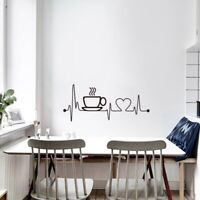 Removable Kitchen Coffee House Cup Quotes Wall Stickers Vinyl Decal Decor ON SAL
