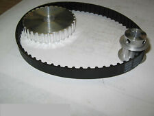 "Asian Mini Lathe7 x 10, 12, & 14""Pulley/Belt Power Upgrade Kit 3:1 Reduction,hub"