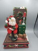 SUPER RARE Vtg 1995 Holiday Creations Christmas Santa Musical Display Works