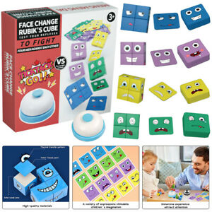 Magic Face Changing Christmas emoji Puzzles Building Block Cube Montessori Gift