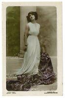 c 1925 Glamour Glamor DOUBTS BEAUTY Pretty Lady British photo postcard