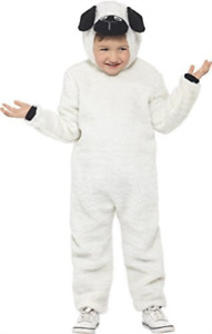 Sheep Costume, White & Black, with Hooded Jumpsuit -  (Size: Medium COST-UNI NEW