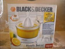 Black+Decker HJ30 Handy Electric Citrus Juicer Reamer 28oz Strainer open box