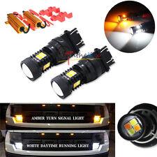 2 Dual-Color Switchback 3030-SMD LED Turn Signal Lights Kit For 97-14 Ford F-150