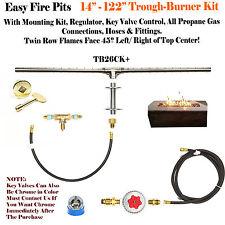 "TB14CK+: DIY DELUXE PROPANE FIRE PIT KIT & 14"" LINEAR 316 STEEL TROUGH BURNER"