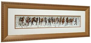 TWO INDIAN HORSES by Bev Doolittle Solid Hardwood Frame Professional Mats