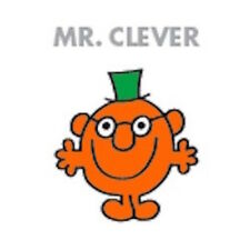 MR MEN AND LITTLE MISS GREETING CARD: MR CLEVER - NEW IN CELLO POST DAILY