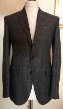 Polo Ralph Lauren Plaid Linen Blazer Jacket Grey Size uk 38 eu 48