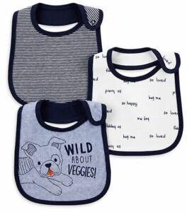 NWT Carters BIB Baby Boy Teething,Feeding,Drool WATERPROOF DOG/VEGGIES/SO LOVED