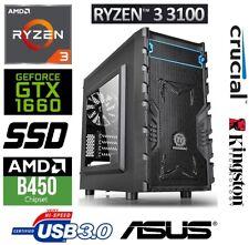 Multimedia PC System AMD Ryzen 3 3100, Nvidia GTX 1660 OC 6GB, 16GB RAM, 1TB SSD