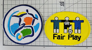 EURO 1996 FAIR PLAY EMBROIDERY Patch Badge set Soccer Football jersey