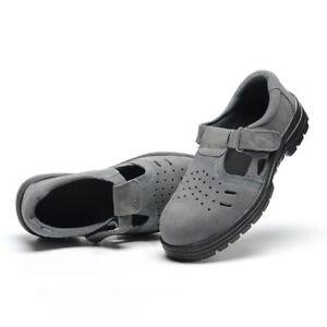 Safety Sandals Steel Toe Work Shoes Anti Slip Oil Resistant for Men Women