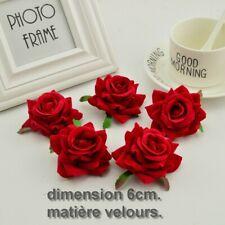 Tête de rose artificielle peau de pêche décoration mariage maison 5pcs