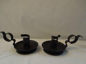 Wrought Iron Candleholders-Set of 2.