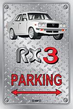 Parking Sign Metal MazdA RX3 4-door-04 - Checkerplate Look