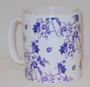 Purple Flower Penis Pattern Mug Funny Willy Cock Girlfriend Boyfriend Lover Gift